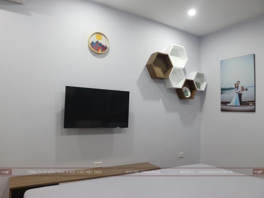 Thiết kế nội thất phòng ngủ Master với đầy đủ các thiết bị đồ nội thất tiện nghi