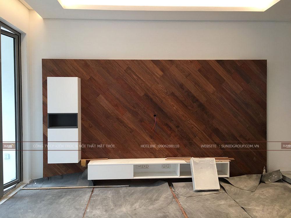 Lắp đặt diện tường và kệ tủ tivi