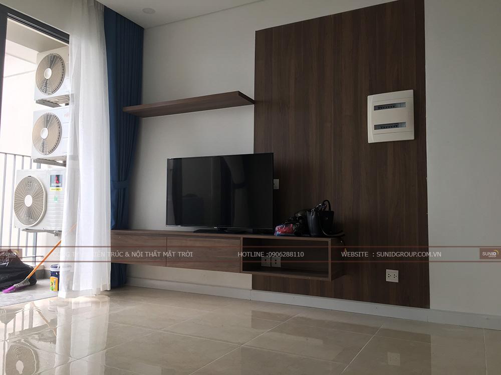 Thi công nội thất phòng khách chung cư D' Capitale Trần Duy Hưng