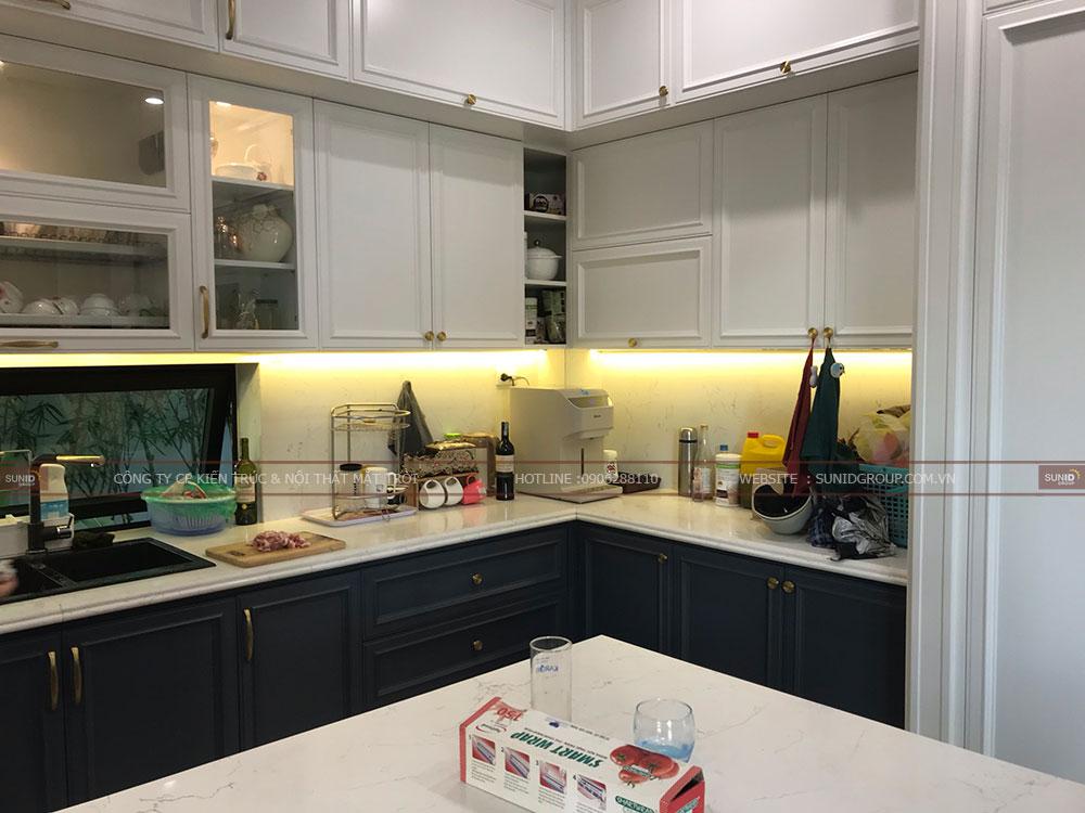 Hệ thống đèn không gian bếp