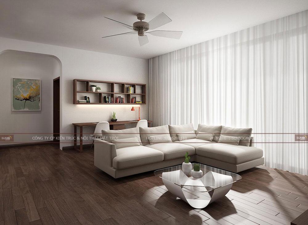 Thiết kế nội thất phòng đọc sách kết hợp phòng làm việc