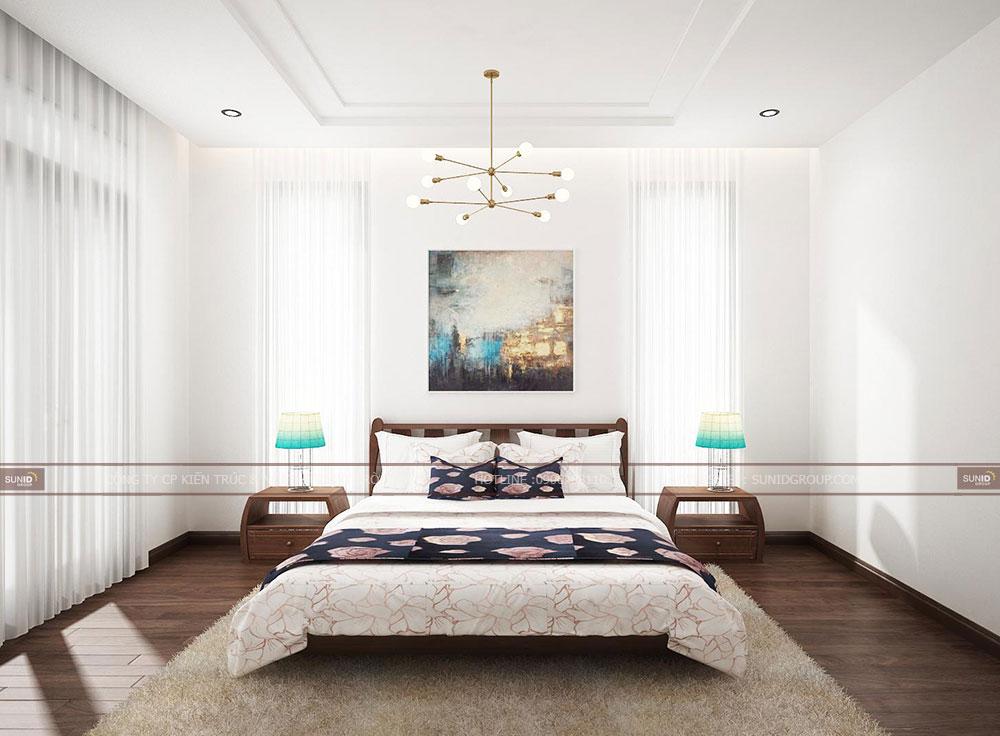 Thiết kế nội thất phòng ngủ Master biệt thự song lập Vinhomes Riverside The Harmony