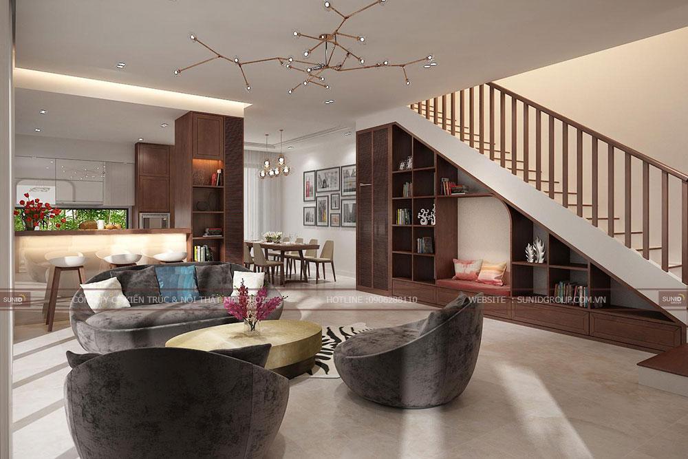 Thiết kế nội thất phòng khách - View 02