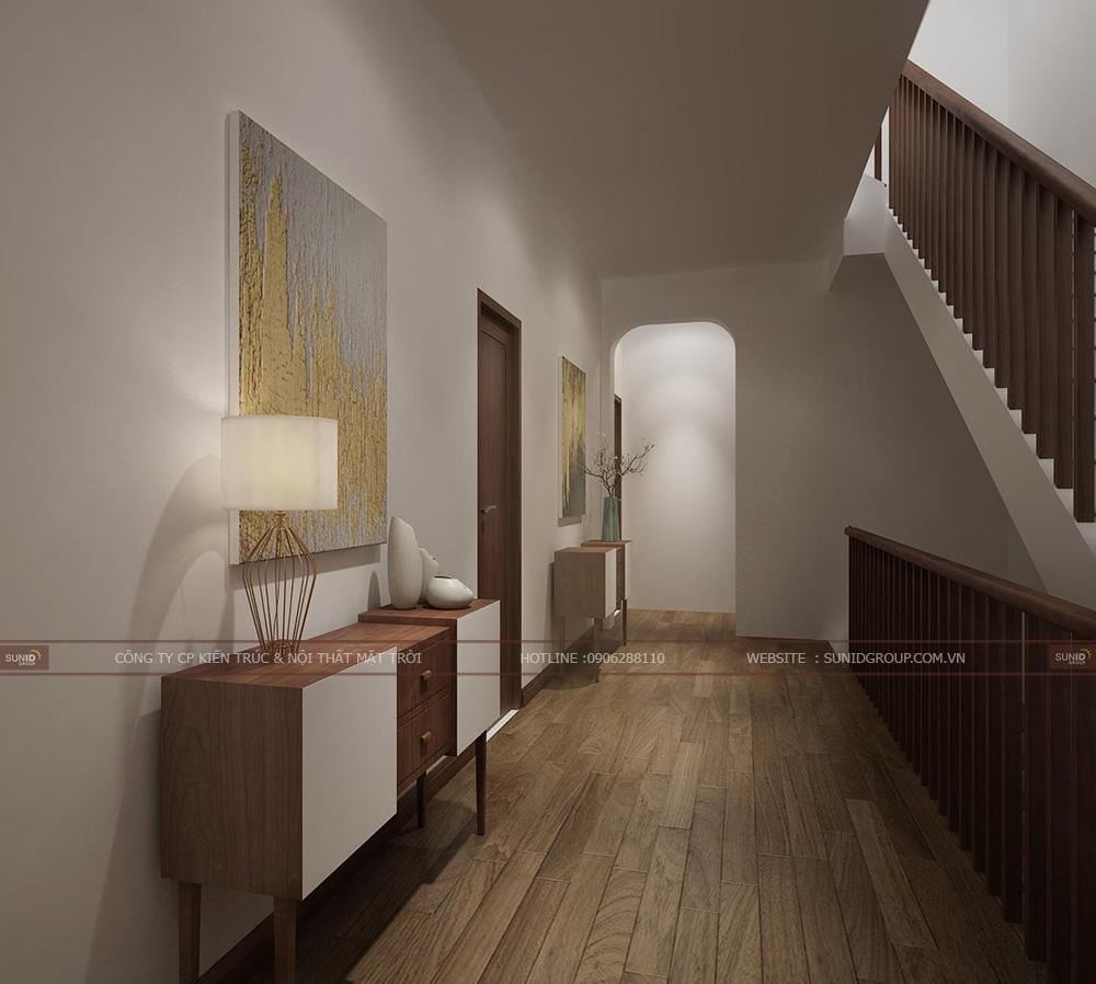 Hành lang tầng 2 giao tầng 3