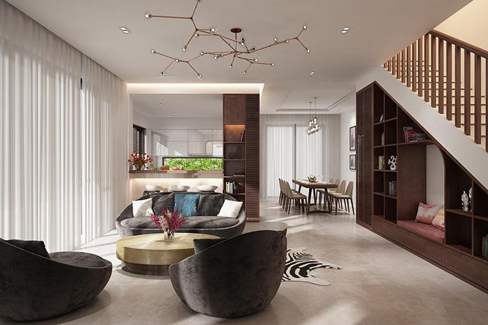 Thiết kế nội thất biệt thự song lập Vinhomes Riverside The Harmony