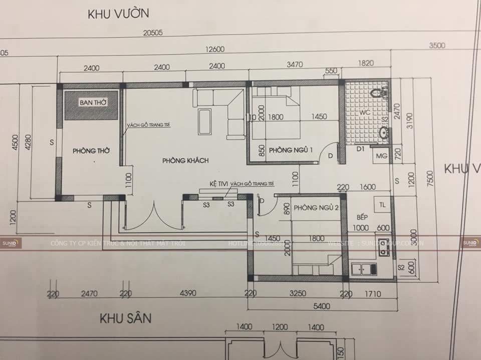 Phác thảo sơ đồ công năng của căn nhà