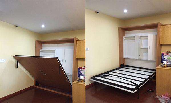 Giường gấp giải pháp thiết kế nội thất thông minh cho căn phòng ngủ nhỏ