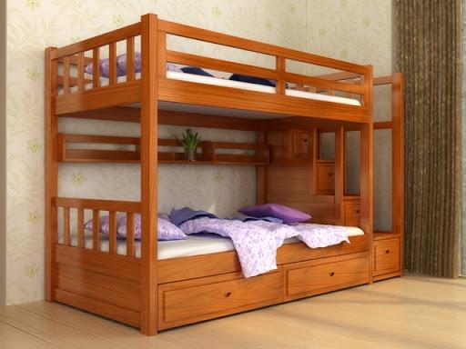 Giường tầng giành cho phòng ngủ các bé