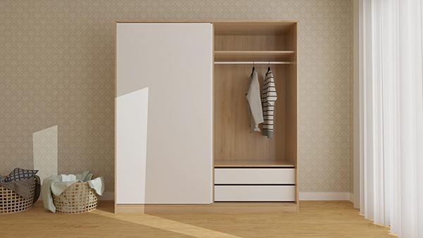 Tủ quần áo bằng cách lắp cửa trượt