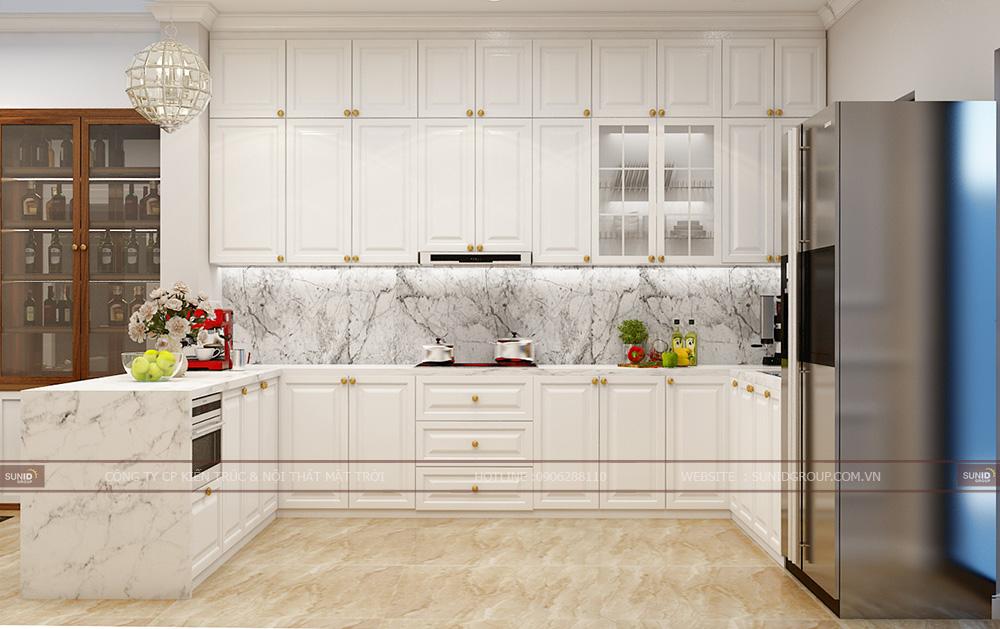 Nội thất không gian bếp chế biến