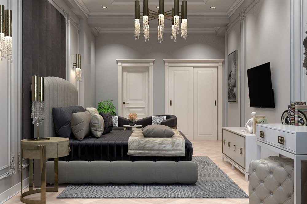 Thiết kế phòng ngủ tân cổ điển mang lại không gian sang trọng