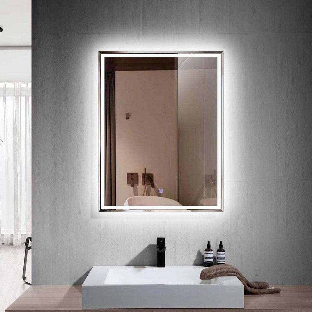 Gương treo hình vuông hợp phong thủy phòng tắm