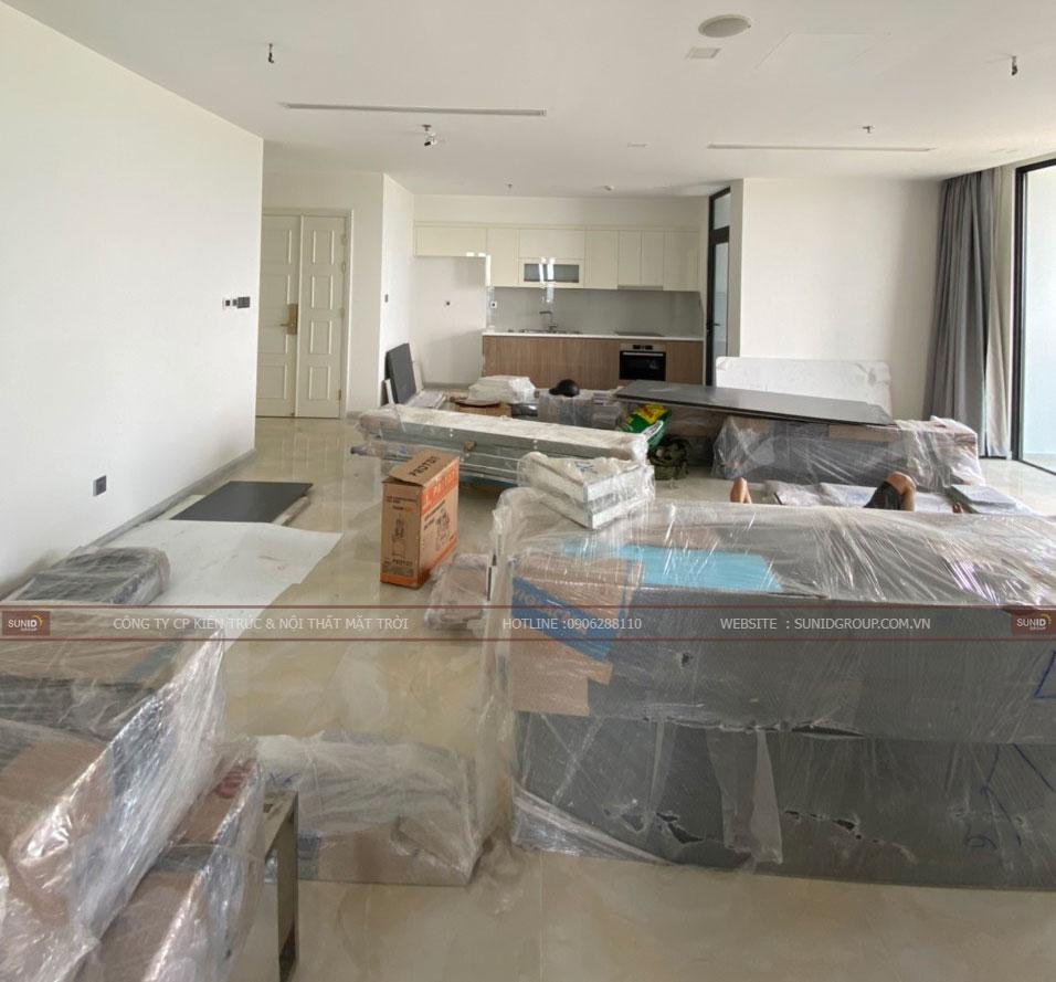 Vân chuyển nội thất lên căn hộ