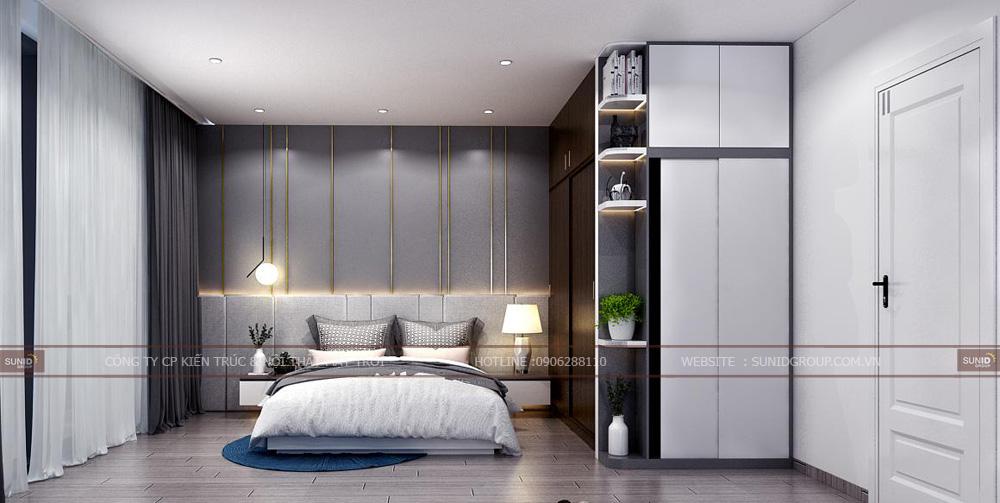 Thiết kế nội thất phòng ngủ Master chung cư Lark 6 Vinhomes Central Park