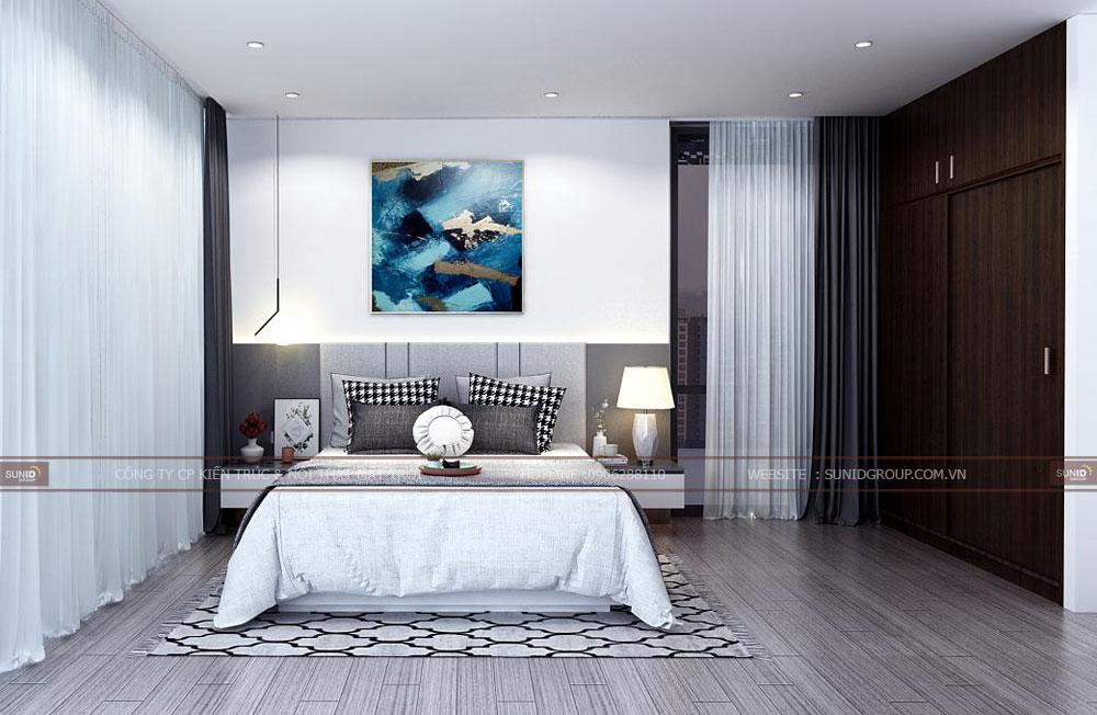 Thiết kế nội thất phòng ngủ phụ 2 chung cư Lark 6 Vinhomes Central Park