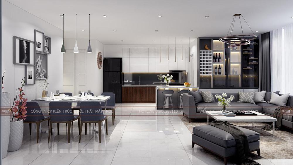 Thiết kế nội thất căn hộ chung cư Lark 6 Vinhomes Central Park