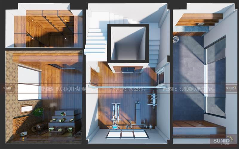 Thiết kế nội thất nhà liền kề PANDORA nhà mẫu A1