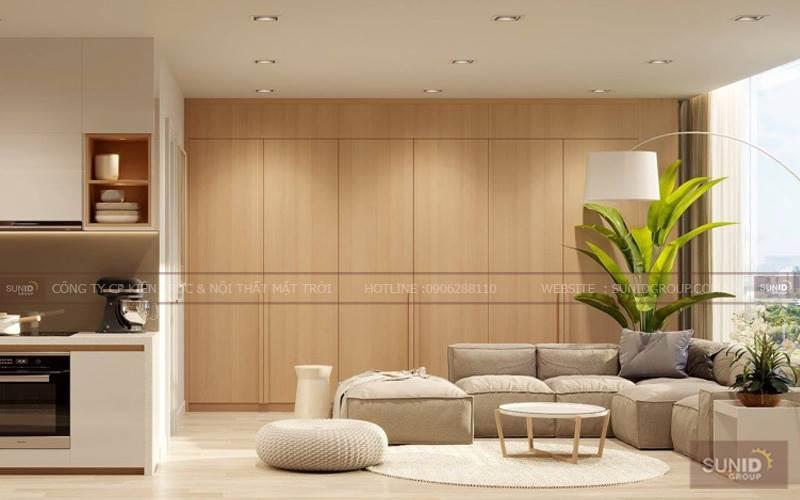 Thiết kế nội thất chung cư tại Green Park CT15 Việt Hưng C.Thu