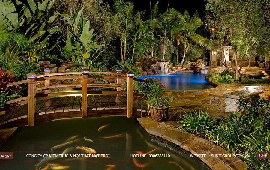 Ý tưởng thiết kế tiểu cảnh sân vườn đẹp cho biệt thự