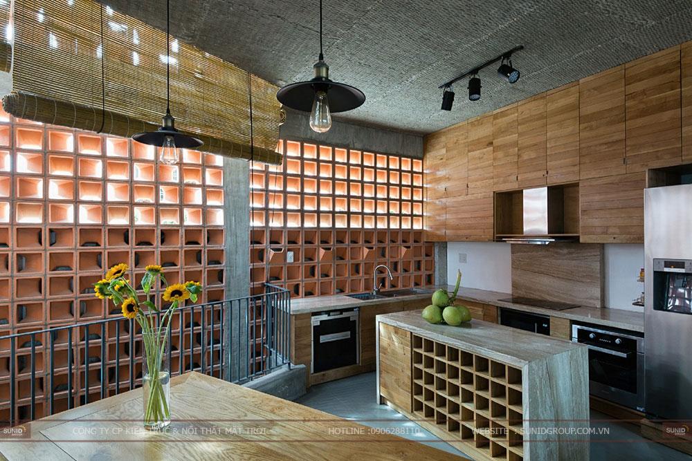 Thiết kế kiến trúc nhà với gạch hoa thông gió