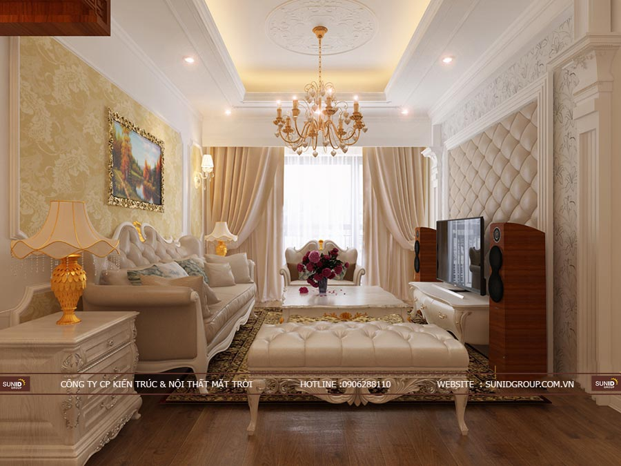 Thiết kế nội thất chung cư Riverside Garden 349 Vũ Tông Phan