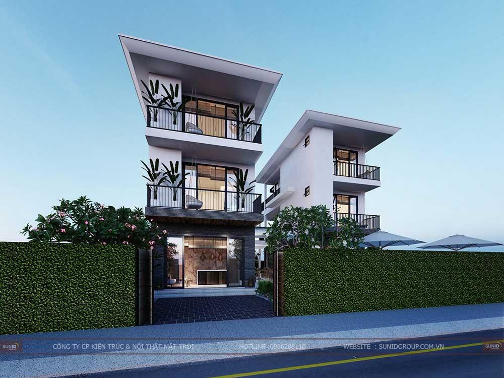 Thiết kế thi công biệt thự tại Bắc Ninh – Biệt thự đôi
