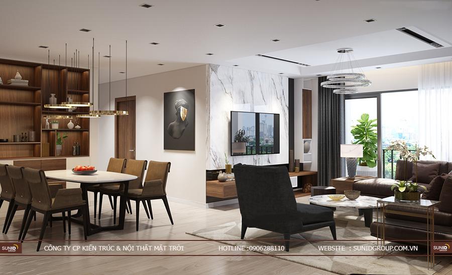 Thiết kế nội thất chung cư Vinhomes Green Bay Residence