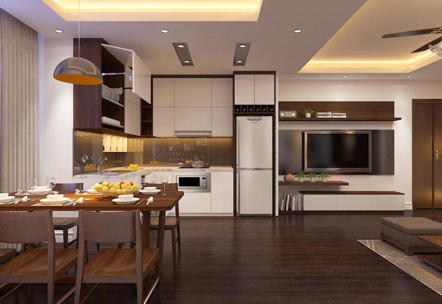 Thiết kế nội thất chung cư 65 mét vuông hiện đại