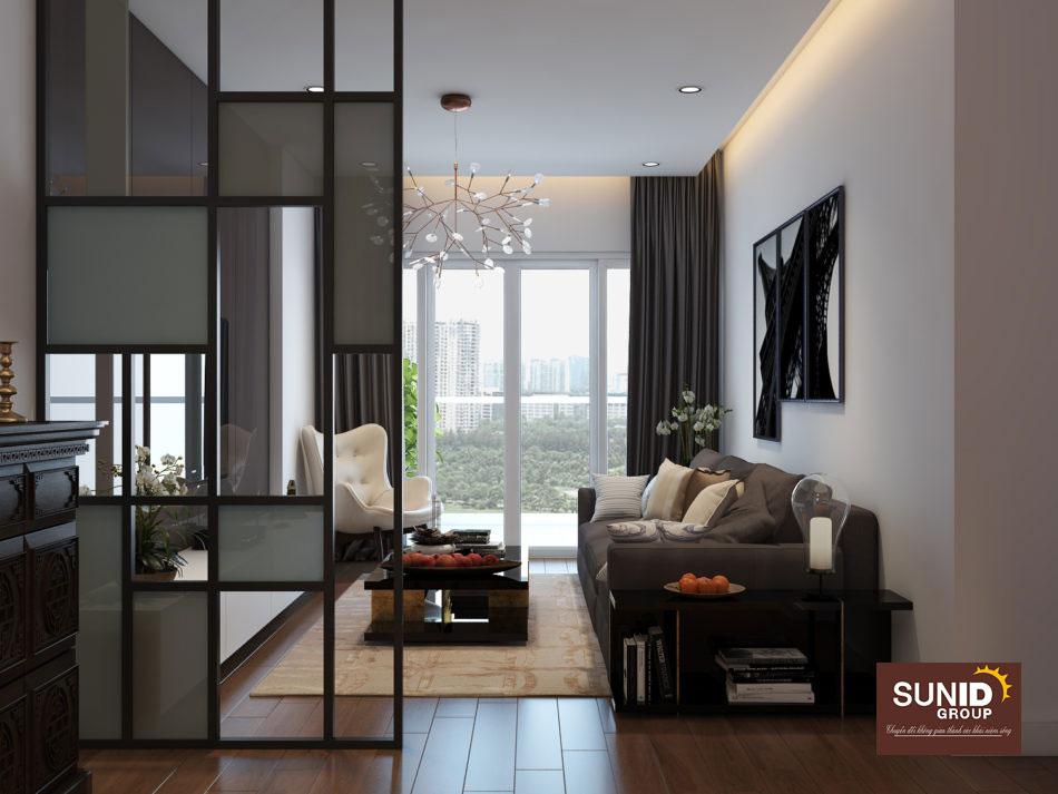 Thiết kế nội thất căn hộ chung cư 85m2 với 3 phòng ngủ