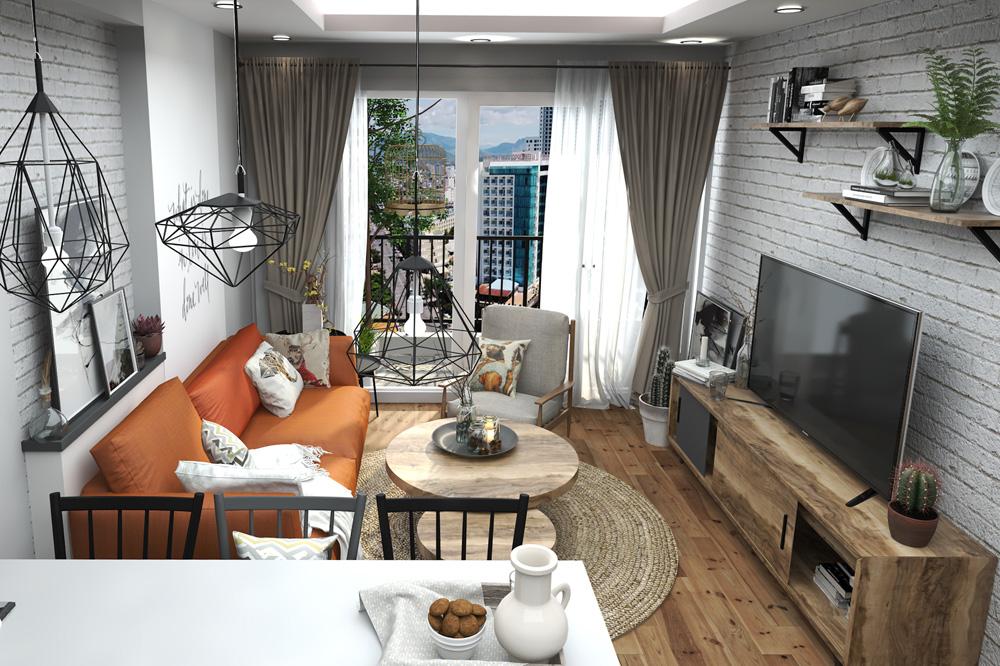 Thiết kế nội thất chung cư nhỏ nhỏ xinh xinh