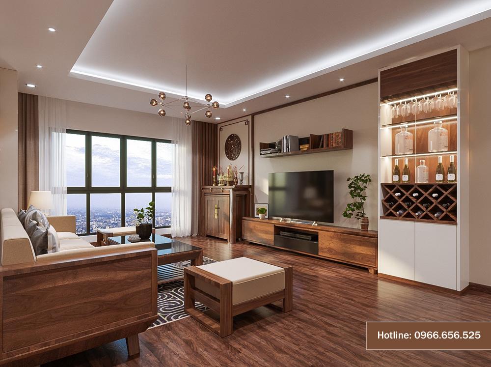 Mẫu thiết kế nội thất chung cư sang trọng hiện đại