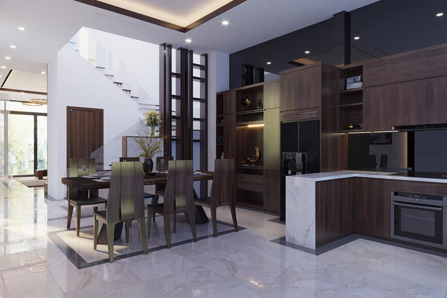 Mẫu thiết kế nội thất biệt thự tinh tế
