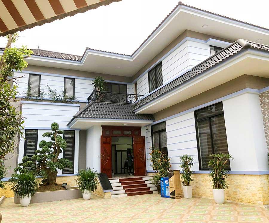 Thiết kế thi công biệt thự sân vườn 2 tầng Phú Cát tại Quốc Oai