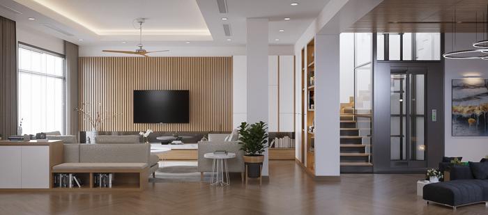 Thiết kế nội thất căn biệt thự Vinhomes The Harmony phong cách hiện đại
